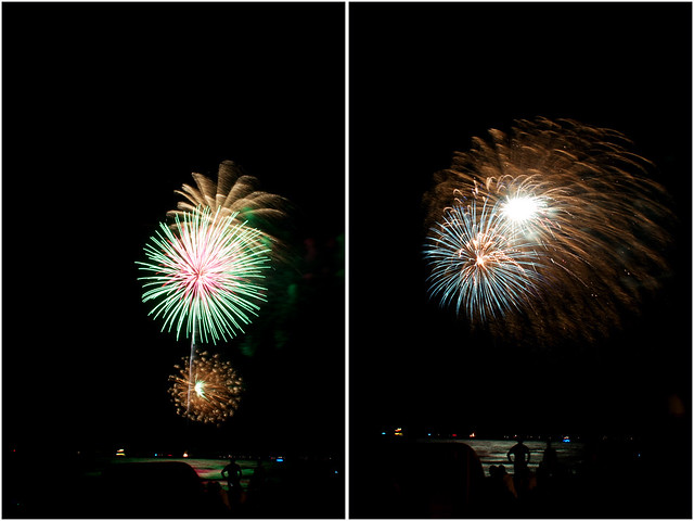 July 4th fireworks diptych 2
