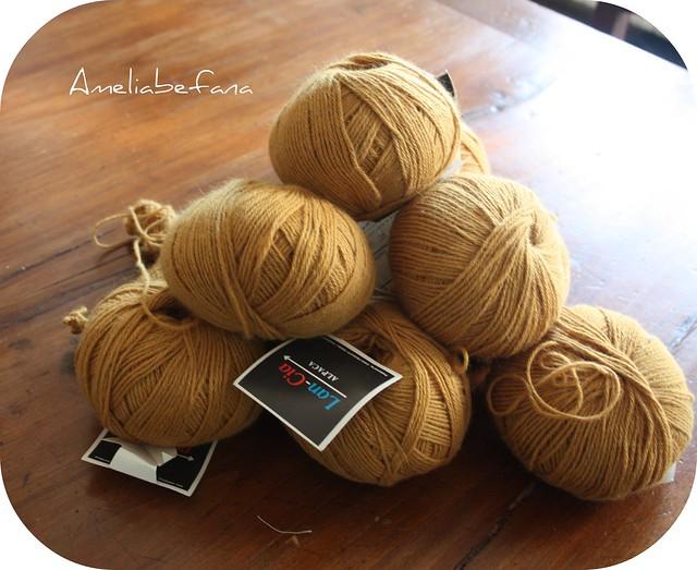 Lancia Alpaga lana mostarda