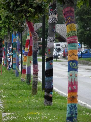 Knitting grafiti in Eidfjord
