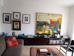 The Pad Through the New Camera:  Art Wall, Living Room
