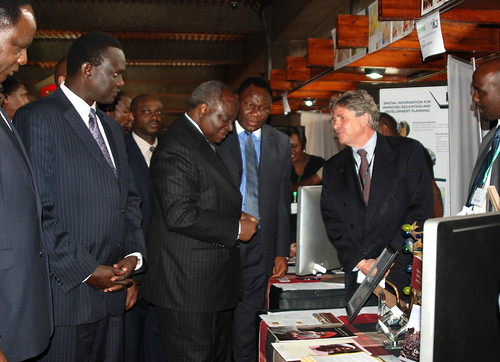 Kenya Government 'Open Data Web Portal' launch: Kenya President Mwai Kibaki and ILRI's Bruce Scott and Andrew Mude