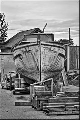 Starliner (Clayton Perry Photoworks) Tags: old bw boat shipyard hdr steveston britannia