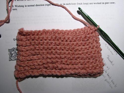 Knurl stitch swatch