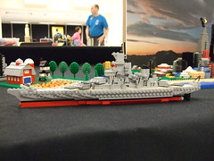 Brickcon Mini-scale Warship (The Acquaintance Crate) Tags: ship lego brickcon