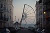 half built brighton ferris wheel #2 (lomokev) Tags: road street sea cars car canon eos brighton half ferriswheel 5d bigwheel fairgroundride canoneos5d deletetag posted:to=tumblr file:name=111003eos5d0006
