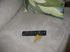 Throwing up on the remote out of spite. (Cat Reports) Tags: cats funnycatpics techproducts catreports