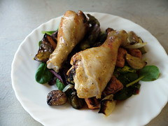 Day Two Hundred and Seventy Six - Chicken Drumsticks with Roast Vege Salad and Asian Style Dressing (Yortw) Tags: food chicken vegetables pumpkin lumix salad october roast panasonic drumstick garlic carrots onion capsicum 2011 panasoniclumix project365 microfourthirds microfourthirdsmicro43 dmcg10 microfourthirds43