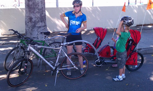 WeeGo Baby Carriers at CicLAvia's South LA hub
