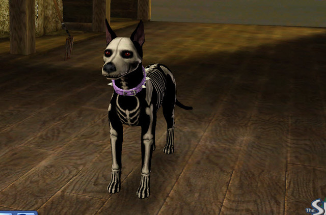The Sims 3 Pets Skeleton Dog