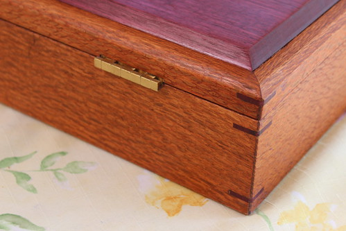 Lacewood and Purpleheart Jewelry Box