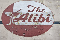 the abibi (DianaLisa) Tags: usa sign emblem downtown streetphotography signage aged peelingpaint rundown excuse justify 2011 whereabouts canoneosrebelxs drinkingestablishment arcatacalifornia