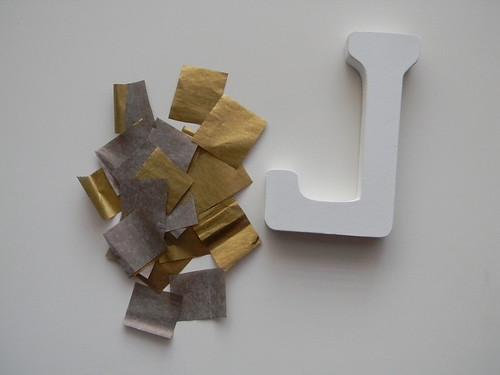 DIY Tissue Initial
