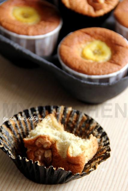 Banana Butter-Sponge Cake