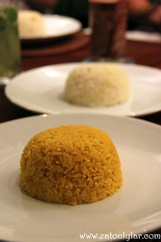 Yellow rice (front) and the Saur rice (back), The Uma