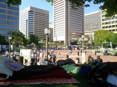 Shaded view of Occupy Baltimore