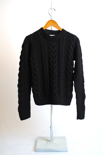 Chunky Wool Cable Knit Sweater