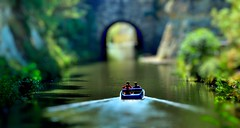 Miniature journey along Canal du Midi (JRJ.) Tags: france miniature corel selectivefocus tiltshift canaldemidi painshopprox4