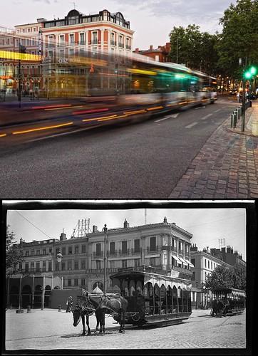 """""""Vers 2011"""" et """"Tramways hippomobile, allées Jean-Jaurès"""""""