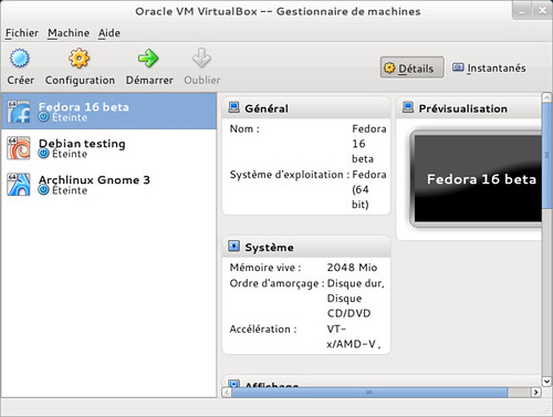 VirtualBox en action :)