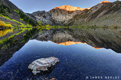 Sunrise at Convict Lake (James Neeley) Tags: california sunrise landscape mammothlakes hdr alpenglow f12 convictlake 5xp jamesneeley