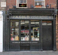 A. Gold French Milliner: Brushfield Street (Curry15) Tags: london e1 spitalfields shopfront agold gradeiilisted traditionalfoodsofbritain frenchmilliner victorianshopfront 42brushfieldstreet