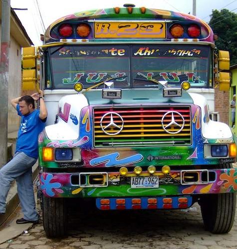 Man w c bus