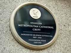 Photo of Edwin Lutyens black plaque
