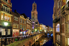 Utrecht at dusk (cadviodi) Tags: blue holland church netherlands dutch st canal twilight utrecht domtoren martin cathedral dusk dom thenetherlands catedral 11 tokina hour holanda 16 bluehour mm martins domkerk domchurch oudegracht stmartincathedral 1116 stmartinscathedral 1116mm tokina1116mm tokina1116 cathedralofutrecht