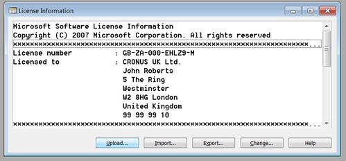 License Information - Upload