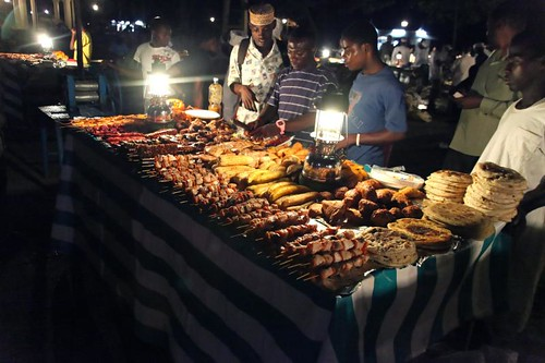 Food table at the Night Market