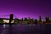 Purple Sky - NYC Lower Manhattan (Yohsuke_NIKON_Japan) Tags: nyc bridge night nikon purple manhattan sigma eastriver nightview アメリカ 10mm ニューヨーク マンハッタン イーストリバー d3100