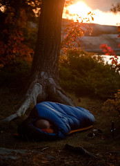 The Colours Part IV - Great Mountain Lake - Sunrise Sleep (Mike.Trent) Tags: park trip morning camping autumn ontario canada fall colors leaves colours sleep lakes knife canoe canoeing portage provincialpark sleepingbag portaging killarneyprovincialpark ontarioparks sleepingpad d700