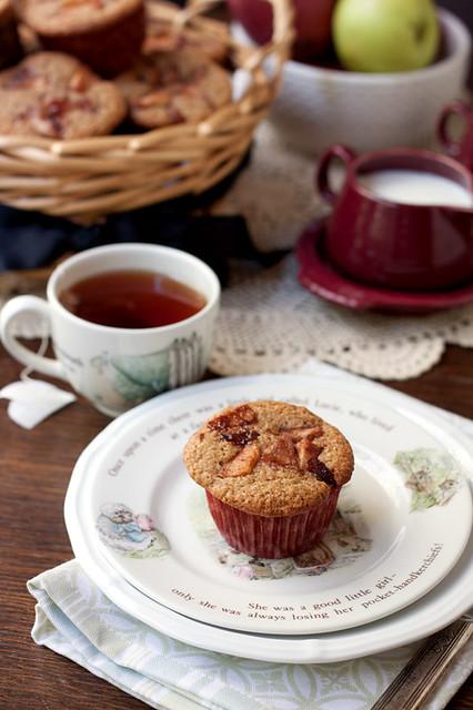Apple Pie Cream Cheese Muffins