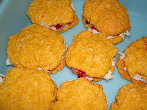 Coconut and Raspberry Sandwiches