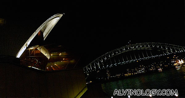 View of the Sydney Harbour Bridge from the lounge window