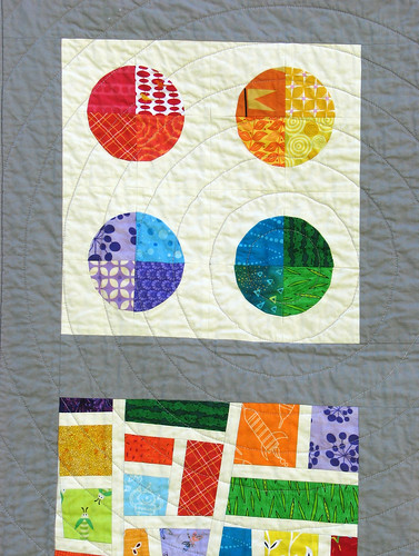 Closeup of Pieced Circles