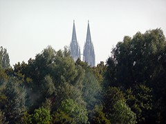 Regensburg Cathedral from Autobahn A93