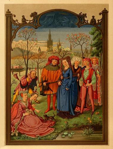 006-Santoral de Abril-Lamina-Les évangiles des dimanches et fêtes de l'année –Vol 1- 1864- Leon Curmer