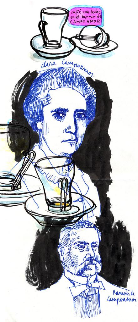 Un café con leche, Clara Campoamor y Ramón de Campoamor