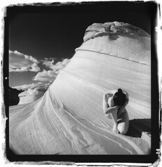 * (silke s.) Tags: arizona selfportrait 120 6x6 film analog mediumformat redfilter hasselblad500cm