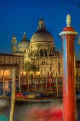 venice_sanmarco_grandcanal_night_tonemapped (Bruce Stribling) Tags: travel cruise venice vacation italy church night island canal dock mediterranean belltower gondola hdr topaz adjust
