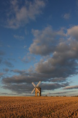 Tiny mill huge sky (yph photography) Tags: uk england sky cloud windmill field canon eos rebel kiss britain sail chesterton x3 500d yampy eos500d t1i