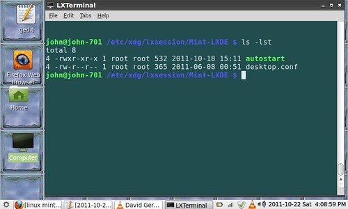 LXTerminal at location of startup file