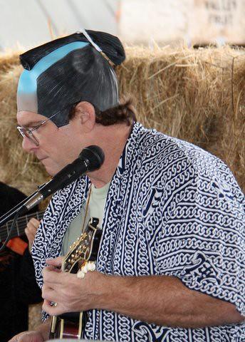 Samurai Joe Ross with mandolin