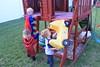 IMG_9102 (drjeeeol) Tags: halloween costume backyard katie superman charlie will superhero cape supergirl triplets toddlers fail 2011 36monthsold