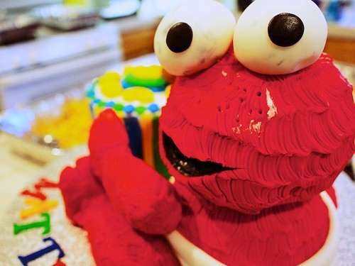 Baby Elmo after the party