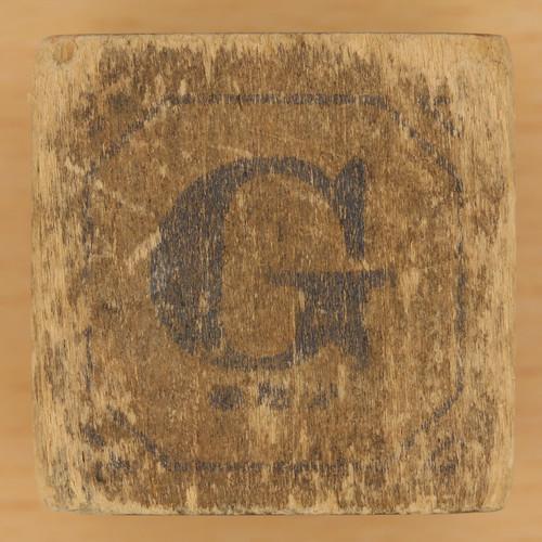 Block Letter G Vintage wooden block letter g
