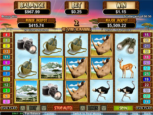 free White Rhino slot free spins