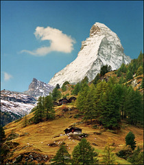Is it missing something? (Katarina 2353) Tags: travel blue autumn vacation sky white house mountain snow alps green art fall film home nature beautiful face grass clouds forest landscape photography switzerland nikon october europa europe fl