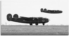 Heavy Bombers (Ken's Aviation) Tags: texas airshow consolidated caf liberator midland b24 airsho commemorativeairforce confederateairforce am927 n24927 ol927